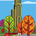 Cathedral of Learning Poster by Ron Magnes