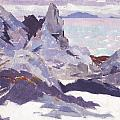 Cathedral Rock  Iona Poster by Francis Campbell Boileau Cadell