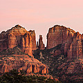 Cathedral Rock Sunset Print by Mary Jo Allen