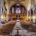 Cathedrale Saint-Etienne Interior / Cahors Print by Barry O Carroll