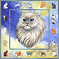 Cats Purrfection Four - Persian Poster by Linda Mears