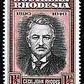 Cecil John Rhodes - 1.5d Black Poster by Outpost Imagery