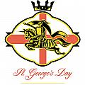 Celebrate St. George Day Proud to Be English Retro Poster Poster by Aloysius Patrimonio