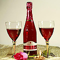 Celebrate with Sparkling Rose Wine Poster by Inspired Nature Photography By Shelley Myke