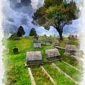 Cemetery Clouds Poster by Amy Cicconi