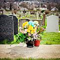 Cemetery Flowers Poster by Tom Gowanlock
