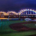 Centennial Bridge and Modern Woodmen Park Poster by Scott Norris