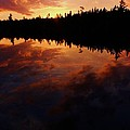 Center Pond Baxter State Park Print by Tim  Canwell
