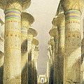 Central Avenue of the Great Hall of Columns Print by David Roberts