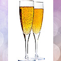 Champagne in glasses Poster by Elena Elisseeva
