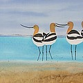 Chance encounter at the beach Print by Carolyn Doe