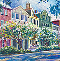 Charleston's Rainbow Row Poster by Alice Grimsley