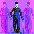 Charlie Chaplin The Tramp Three 20130216m108 Print by Wingsdomain Art and Photography