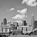 Charlotte Skyline in Black and White Print by Jill Lang