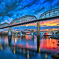 Chattanooga Sunset 3 Print by Steven Llorca