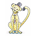 Cheetah in a Top Hat Poster by Christy Beckwith