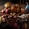 Chef - Food - A tribute to Rembrandt - Apples and Rolls  Poster by Mike Savad