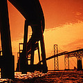 CHESAPEAKE BAY BRIDGE Print by Skip Willits
