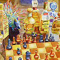 Chess and Tequila Print by Mary Helmreich