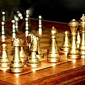 Chess Set  Poster by Diane Merkle