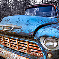 Chevy in the Woods Poster by Debra and Dave Vanderlaan