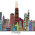 Chicago city  Poster by Bri Buckley