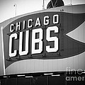 Chicago Cubs Wrigley Field Sign Black and White Picture Poster by Paul Velgos