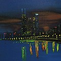 Chicago Impressionism Skyline Print by Gregory Allen Page