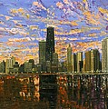 Chicago Print by Mike Rabe