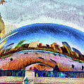 Chicago Reflected Print by Jeff Kolker