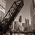 Chicago River Traffic BW Poster by Steve Gadomski