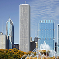 Chicago skyline from Millenium Park IV Print by Christine Till
