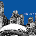 Chicago The Bean - Royal Blue Poster by DB Artist
