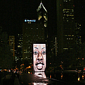 Chicago's Crown Fountain at night Poster by Christine Till