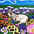 Chihuahua In Flowers Poster by Genevieve Esson