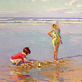 Children on the Beach Print by Charles-Garabed Atamian