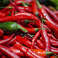 Chili Peppers At the Market Print by Heather Applegate
