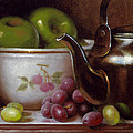 China Bowl and Teapot Print by Timothy Jones