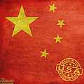 China Flag Made In The USA Poster by Tony Rubino