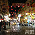 China Town At Night Poster by Linda Woods