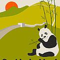 China Travel Poster Poster by Jazzberry Blue