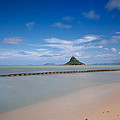 Chinaman's hat Mokolii in Hawaii Print by Tin Lung Chao