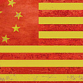 Chinese American Flag Poster by Tony Rubino