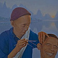 Chinese Citizen Barack Obama on the ear scops Print by Tu Guohong
