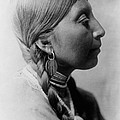 Chinookan indian woman circa 1910 Print by Aged Pixel