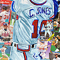 Chipper Jones 14 Poster by Michael Lee