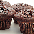 Chocolate Chocolate Chip Muffins - Bakery - Breakfast Poster by Andee Photography