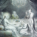 Christ in the House of Martha and Mary or The Penitent Magdalene Print by William Blake