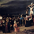 Christ on the Cross Print by Mihaly Munkacsy