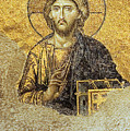 Christ Pantocrator-Detail of Deesis Mosaic Hagia Sophia-Judgement Day Poster by Urft Valley Art